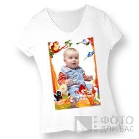 Фотография на детской футболке